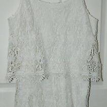 Forever 21 Contemporary White Lace Shorts Romper Jumpsuit S Small Photo