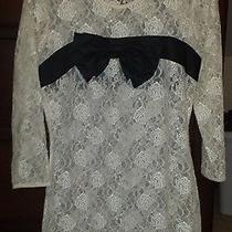 Forever 21 Cream Lace Bow Blouse Size M Photo