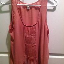 Forever 21 Dark Blush Colored Chiffon Tank Top in Large Photo