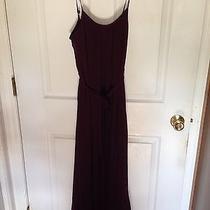 Forever 21 Dark Plum Purple Chiffon Dress Size Small Photo