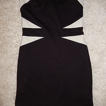 Forever 21 Dress Strapless Ivory and Black Small No Tag. Zipper in the Back Photo