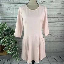 Forever 21 Dusty Pink Shift Skater Dress Front Pockets S Small Blush Pink New Photo