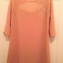 Forever 21 Exclusive - Holiday Blush Lined Gold Studded Dress  Jr S  Nwot Photo