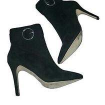 Forever 21 Faux Suede Side Zip High Heel Ankle Boots Black Women's Size 8  Photo