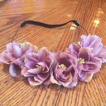 Forever 21 Floral Purple Headbands New No Tags Photo