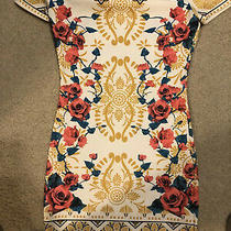 Forever 21 Floral Sheath Dress Small Photo