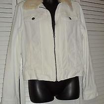 Forever 21 Fur White Jean Jacket Size M Rn No 94981 Photo