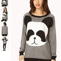 Forever 21 Graphic Cat Sweater Size M Photo