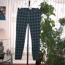 Forever 21 Green & Blue Tartan Plaid Grunge Skinny Jeans 30 Photo