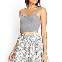 Forever 21 H/m Gray Floral a-Line Mini Skater American Apparel Skirt Size Xs Photo