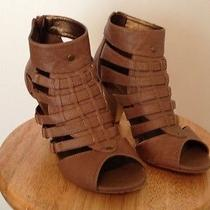 Forever 21 Heels Gladiator Caged Sandals Rose Blush Size 6 Photo