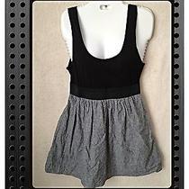 Forever 21 Juniors Dress Size Medium Black Gray Stretch Sleeveless Photo