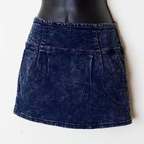 Forever 21 Juniors Size Medium Free Shipping Stonewashed Denim Mini Skirt Photo