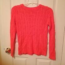 Forever 21 Juniors Sweater Orange Coral Small Photo