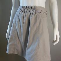 Forever 21 Khaki/gray a-Line Tie Back Skirt Mini Knee Length Lined Dressy Xs Photo