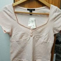 Forever 21 Knit Crop Top Blush Color New With Tag Photo