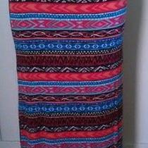 Forever 21 L Multi Color Chevron Maxi Skirt New With No Tag  Photo