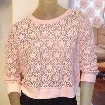Forever 21 Lace Longsleeve Top Size Large Blush Photo