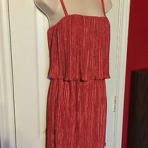 Forever 21 Ladies Size Medium Ruffled/layered Spaghetti Strap Red Blush Dress  Photo