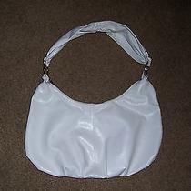 Forever 21 Large White Hobo Bag Purse Handbag Silver Hardware Photo