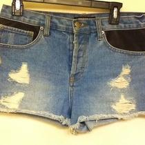 Forever 21 Leather Pocket Shorts Urban Outfitters Cool With Distress Marks Photo