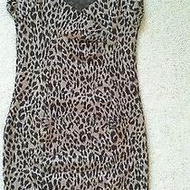 Forever 21 Leopard Animal Print Bodycon Mini Dress Size M Photo
