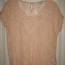 Forever 21 Light Pink/blush Lace Blouse Size S Photo