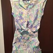 Forever 21 Like Floral Cut Out Romper Photo