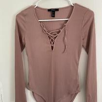 Forever 21 Long Sleeve Body Suit Size Small Blush Pink Photo