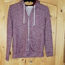 Forever 21 Long Sleeve Maroon Hoodie Top Small Jrs Cotton Blend Photo