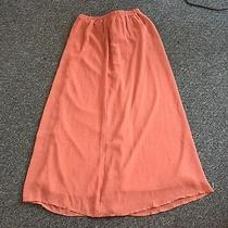 Forever 21 Maxi Skirt Blush/coral Color.  Photo