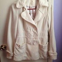 Forever 21 Off White Corduroy Pea Coat Photo