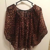 Forever 21 Oversized Batwing Chiffon Cheetah Top h&m Asos Photo