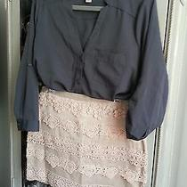 Forever 21 Pale Blush Mini Skirt Size Medium W/zipper Photo