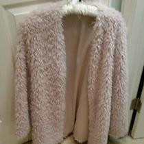 Forever 21 Pale Blush Pink Furry Coat--M Nwot Photo