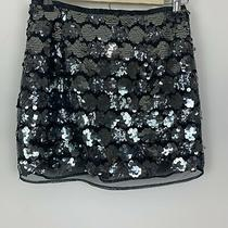 Forever 21 Party Sequin Black Mini Short Skirt Size Small Photo