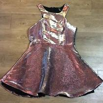 Forever 21 Pink Shiny Flare Sleeveless Dress Womens Size Medium Photo
