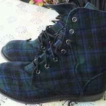 Forever 21 Plaid Combat Boots Photo