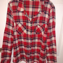 Forever 21 Plus Size 1x Ls Plaid Button Down Shirt.  Light Weight Flannel Photo
