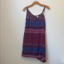 Forever 21 Red and Blue Floral Dress Size Small Photo