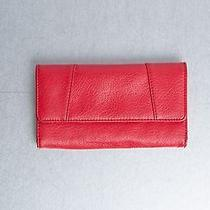 Forever 21 Red Faux Leather Trifold Wallet Photo