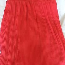 Forever 21 Red Pleated Skirt//sizesmall Photo