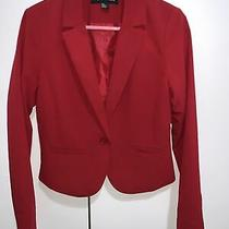 Forever 21 Red Suit Blazer Jacket Size 6 Photo