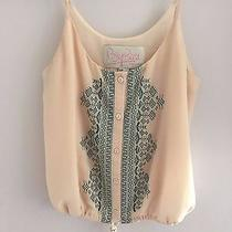 Forever 21 Rory Beca Light Blush Embroidered Tank Top Small Like Brandy Melville Photo