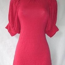 Forever 21 Rose Pink Keyhole Back Shirt Curvy Fit Top Knit Turtleneck S Small Photo