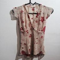 Forever 21 See-Through Extra Small Flower Pattern Blouses Photo