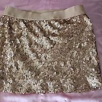 Forever 21 Sequin Rose Gold Mini Skirt (Medium) Photo