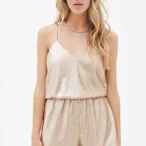 Forever 21 Sequined Cami Romper Rose Gold L Photo