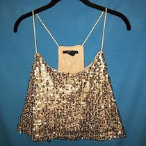 Forever 21 Sequined Crop Tank Size Large Blush Party Wear Festive Club Wear  Photo
