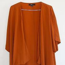 Forever 21 Shot Sleeve 100% Polyester Pumpkin Open Top Size S/p Solid Blouse   Photo